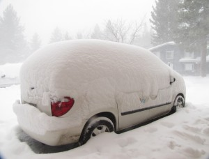 Our car this morning