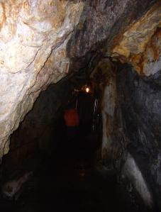 A gold mine is a dark, spooky place
