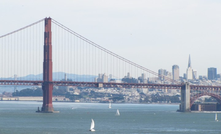The Golden Gate Bridge with the city behind it. How has it taken this long to get a picture of the bridge onto the blog?