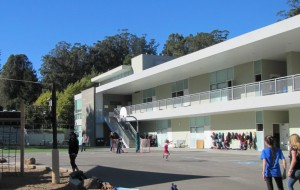 The middle school, for ages 11-14. The lower school sits on the opposite side of the playground.