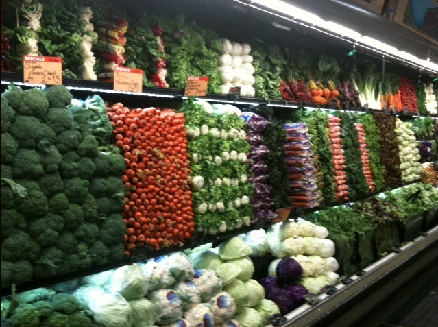The vegetable aisle in WholeFoods